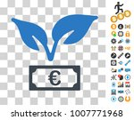euro startup sprout icon with...