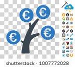 euro money tree icon with bonus ...