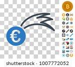 euro falling meteor pictograph...
