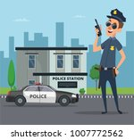 building of police station and... | Shutterstock .eps vector #1007772562