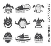 badges set for wood working... | Shutterstock .eps vector #1007772592