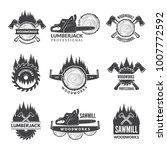 badges set for wood working...   Shutterstock .eps vector #1007772592