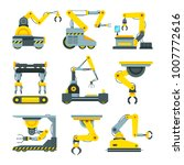 robotic hands for machine... | Shutterstock .eps vector #1007772616