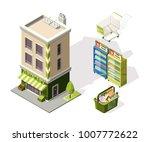 isometric tools for supermarket.... | Shutterstock .eps vector #1007772622