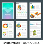 design of annual reports with... | Shutterstock .eps vector #1007773216