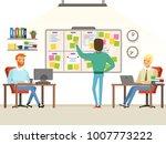 team leader make planning tasks ... | Shutterstock .eps vector #1007773222
