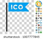 ico flag pictograph with bonus... | Shutterstock .eps vector #1007777845