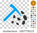stone mining hammer pictograph...
