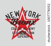 new york star graphic design... | Shutterstock .eps vector #1007778352