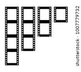set of vector filmstrips.... | Shutterstock .eps vector #1007779732