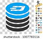 dash coin stack icon with bonus ... | Shutterstock .eps vector #1007783116