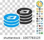 dash coin columns pictograph...