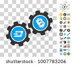 dash bitcoin gears pictograph...