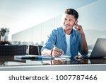 dreaming big. positive minded... | Shutterstock . vector #1007787466