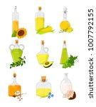 vegetable oil set  different... | Shutterstock .eps vector #1007792155