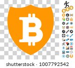 bitcoin shield icon with bonus...
