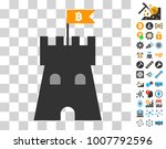 bitcoin fortress tower icon...