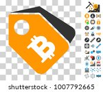 bitcoin tags pictograph with...