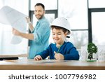 future artist. pleasant young... | Shutterstock . vector #1007796982