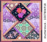 Patchwork Pattern With Floral ...