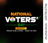 national voters' day india... | Shutterstock .eps vector #1007813746