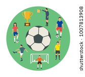 icons of young people playing...   Shutterstock .eps vector #1007813908
