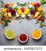 concept of healthy vegetable... | Shutterstock . vector #1007817172