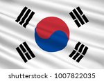 flag of south korea officially... | Shutterstock . vector #1007822035
