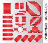 retro red ribbons and labels.... | Shutterstock .eps vector #1007822278