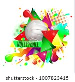 volleyball text on an abstract...   Shutterstock .eps vector #1007823415