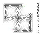 abstract maze labyrinth with...   Shutterstock .eps vector #1007826142