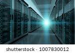 dark server room data center... | Shutterstock . vector #1007830012