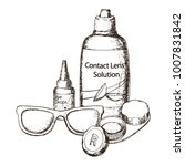 contact lens solution  lens... | Shutterstock . vector #1007831842