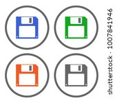 set of colorful save button...