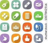 flat vector icon set   medical... | Shutterstock .eps vector #1007842516
