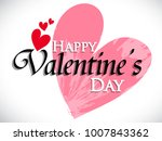 happy valentines day poster... | Shutterstock .eps vector #1007843362