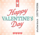 happy valentines day poster... | Shutterstock .eps vector #1007843386