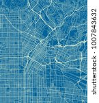 blue and white vector city map... | Shutterstock .eps vector #1007843632