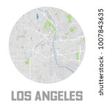 minimalistic los angeles city... | Shutterstock .eps vector #1007843635