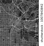 black and white vector city map ... | Shutterstock .eps vector #1007843842