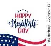 happy presidents' day vector... | Shutterstock .eps vector #1007847466