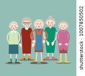 group of older women standing...   Shutterstock . vector #1007850502