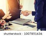 business partnership marketing... | Shutterstock . vector #1007851636