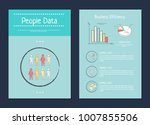 people data and business... | Shutterstock .eps vector #1007855506