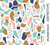terrazzo seamless pattern.... | Shutterstock .eps vector #1007857195