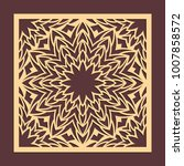 laser cutting panel. golden...   Shutterstock .eps vector #1007858572
