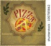 vintage card   cover menu  ... | Shutterstock .eps vector #100785862