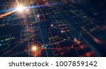 blockchain network concept  ... | Shutterstock . vector #1007859142