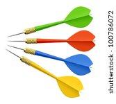 set of darts. vector.