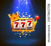 King slots 777 banner casino on the red background. Vector illustration - stock vector